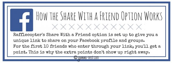 How the Share With a Friend Option Works