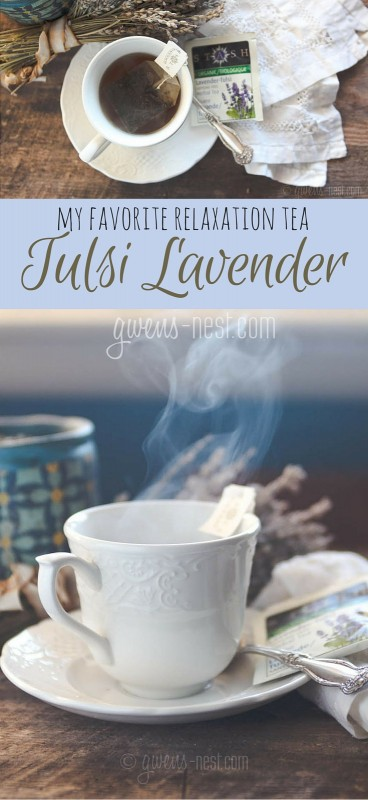 My favorite relaxation tea: tulsi lavender- This is INCREDIBLY good tea. #MonthofTea