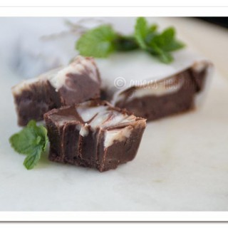 This decadent peppermint fudge recipe will blow your mind...it's incredibly creamy, but sugar free, and packed with healthy fats like bulletproof coffee! Click here for the recipe...