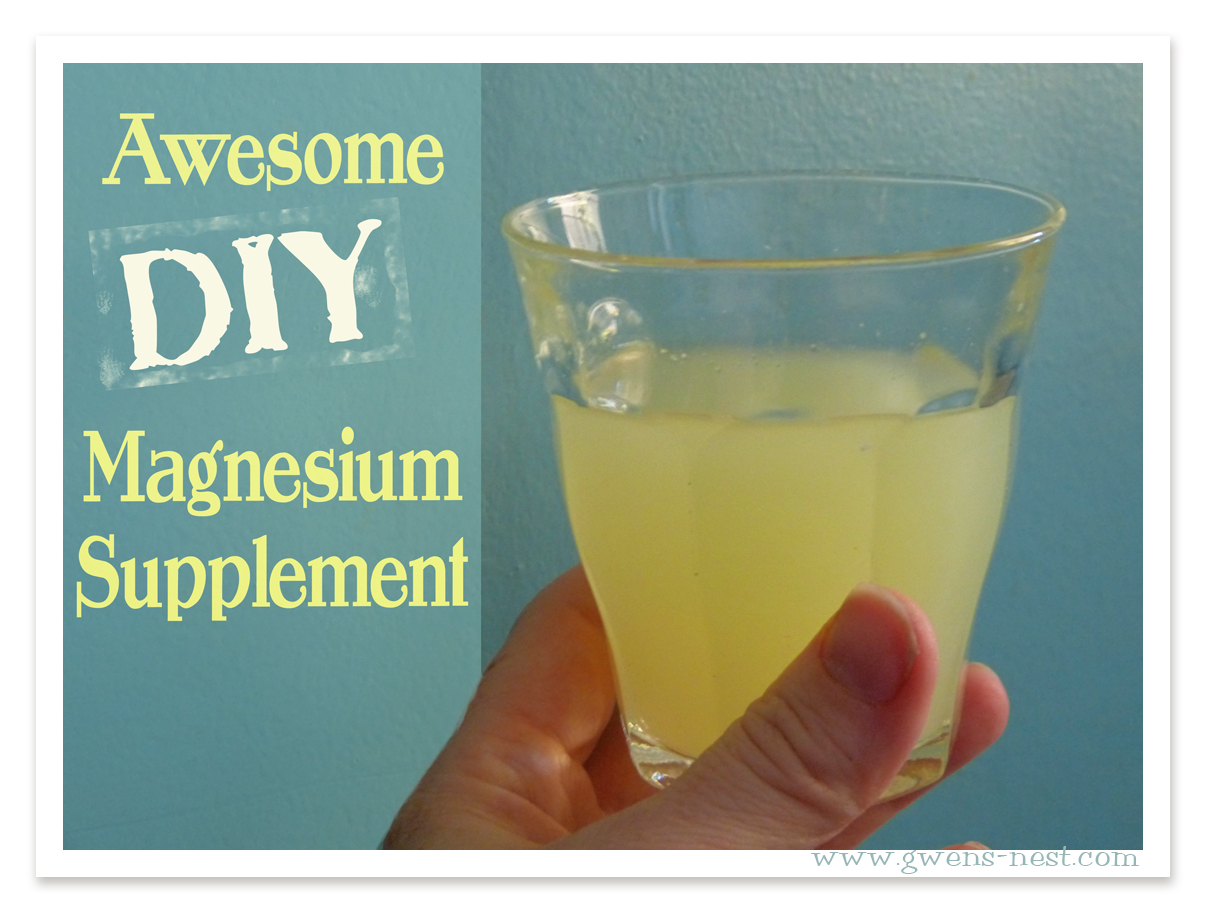 DIY magnesium supplement recipe