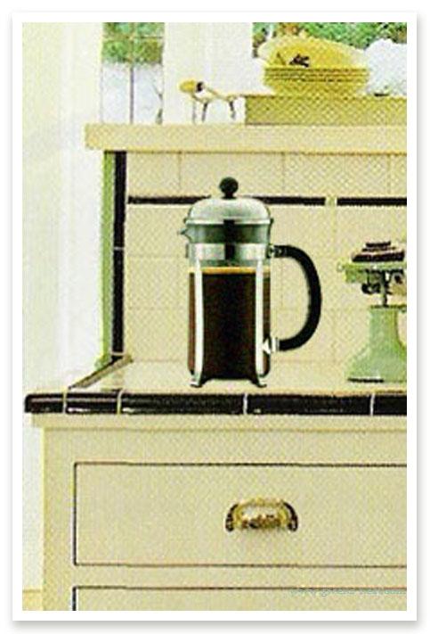 coffee press close up
