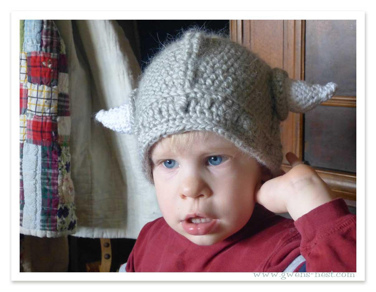 Alfa img - Showing > Viking Hat Crochet Pattern for Baby