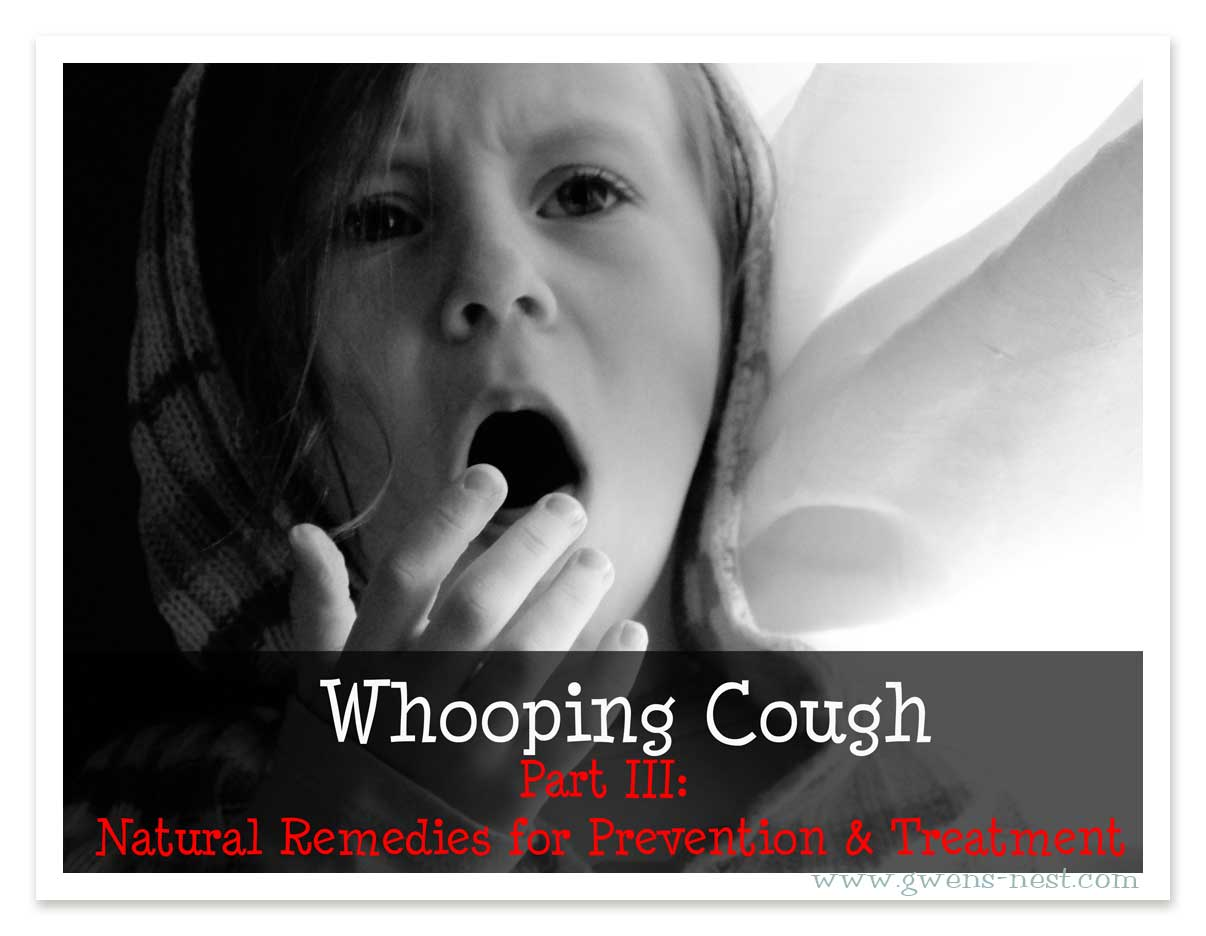natural remedies whooping cough